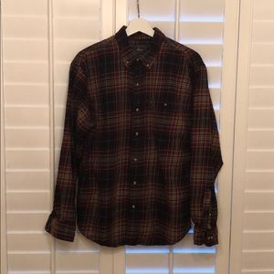 Large Plaid G.H.Bass Flannel Shirt
